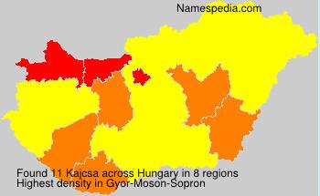 Surname Kajcsa in Hungary