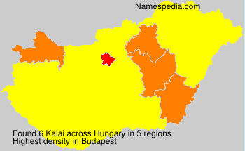 Surname Kalai in Hungary