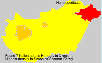 Surname Kaliba in Hungary