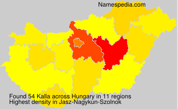 Familiennamen Kalla - Hungary