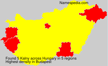Surname Kalny in Hungary
