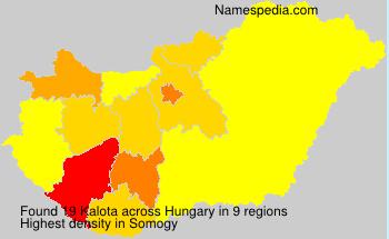 Familiennamen Kalota - Hungary