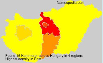 Surname Kammerer in Hungary