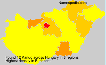 Surname Kando in Hungary
