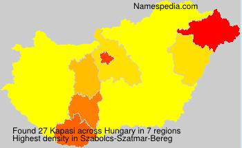 Surname Kapasi in Hungary