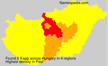 Surname Kapp in Hungary