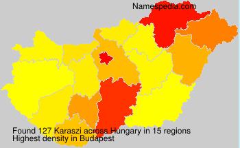 Surname Karaszi in Hungary