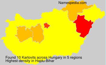 Surname Karlovits in Hungary