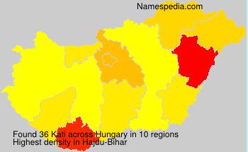 Familiennamen Kati - Hungary