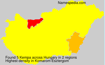 Surname Kempa in Hungary