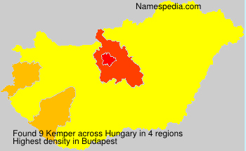 Surname Kemper in Hungary