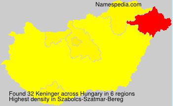 Surname Keninger in Hungary