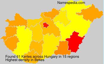 Familiennamen Kertes - Hungary