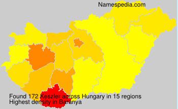 Familiennamen Keszler - Hungary