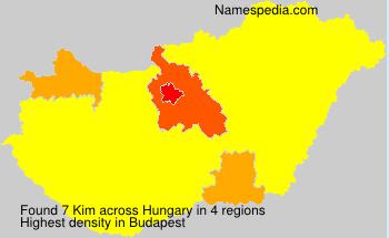 Familiennamen Kim - Hungary