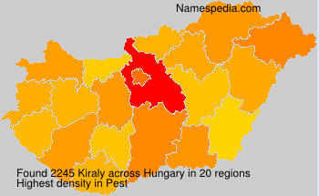 Surname Kiraly in Hungary