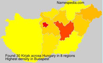 Familiennamen Kirjak - Hungary