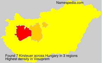 Familiennamen Kirsteuer - Hungary