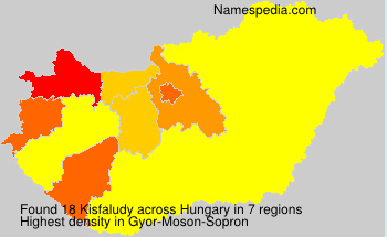 Surname Kisfaludy in Hungary
