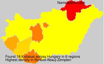 Familiennamen Kisfalusi - Hungary