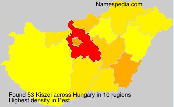 Familiennamen Kiszel - Hungary