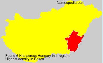 Surname Kita in Hungary