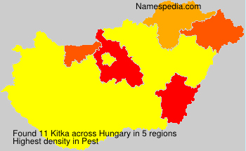 Surname Kitka in Hungary