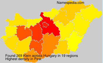 Surname Klein in Hungary