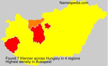 Familiennamen Klenner - Hungary
