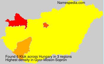 Familiennamen Kluk - Hungary