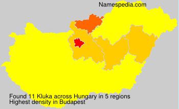 Familiennamen Kluka - Hungary