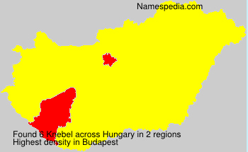 Surname Knebel in Hungary