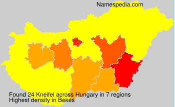 Surname Kneifel in Hungary