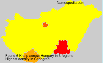 Surname Kneip in Hungary