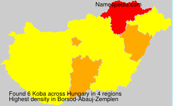 Surname Koba in Hungary