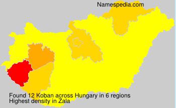 Surname Koban in Hungary