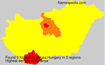 Surname Koberling in Hungary