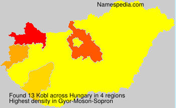 Surname Kobl in Hungary