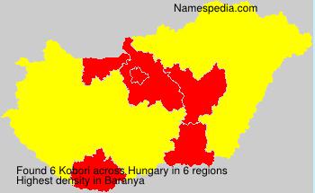 Familiennamen Kobori - Hungary