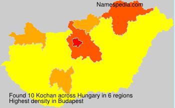 Surname Kochan in Hungary