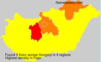 Familiennamen Kocz - Hungary