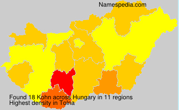 Surname Kohn in Hungary