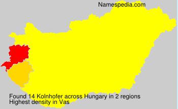 Familiennamen Kolnhofer - Hungary