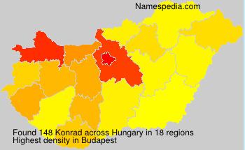 Surname Konrad in Hungary