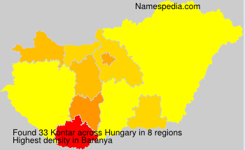 Surname Kontar in Hungary