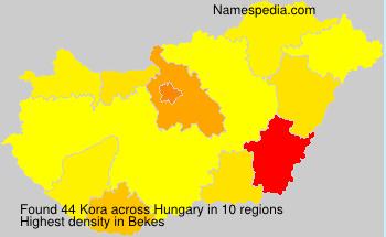 Surname Kora in Hungary
