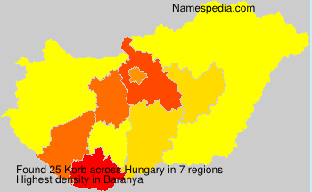 Surname Korb in Hungary