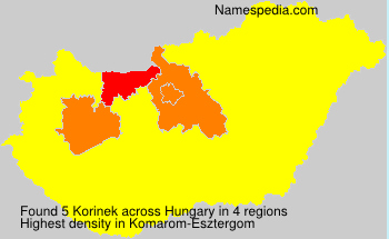 Surname Korinek in Hungary