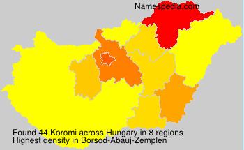 Surname Koromi in Hungary