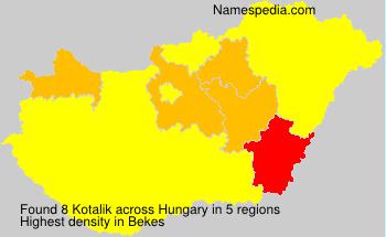 Surname Kotalik in Hungary